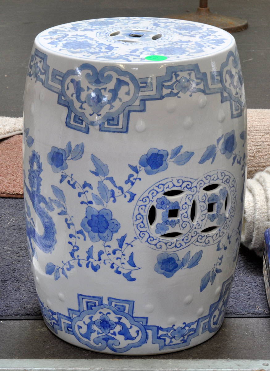 2 Blue u0026 White Chinese Ceramic Stool ... & Auction Catalog islam-shia.org