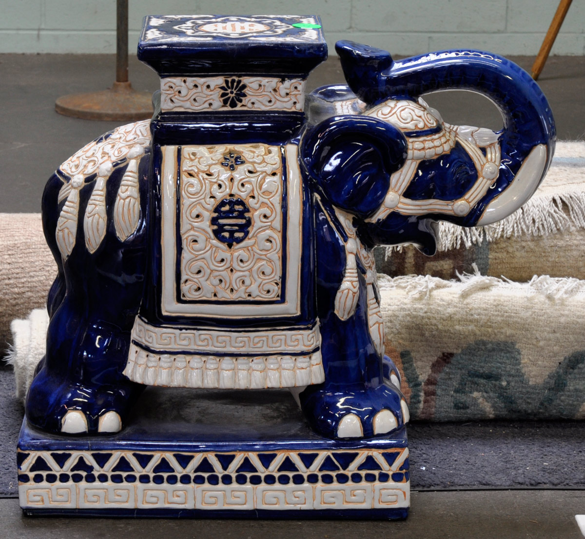 3 Blue Amp White Chinese Pottery Elephant Stool