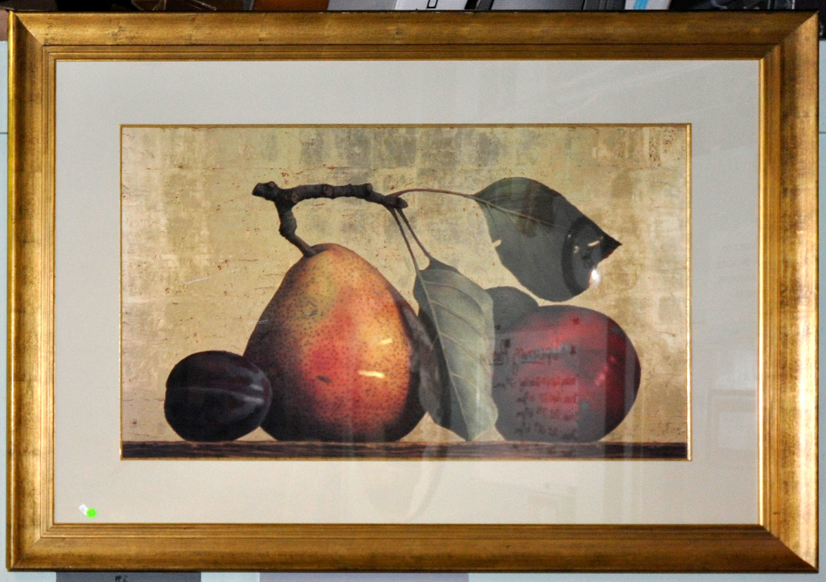 22 Very Large Decorative Print Of Fruit In Nice Frame
