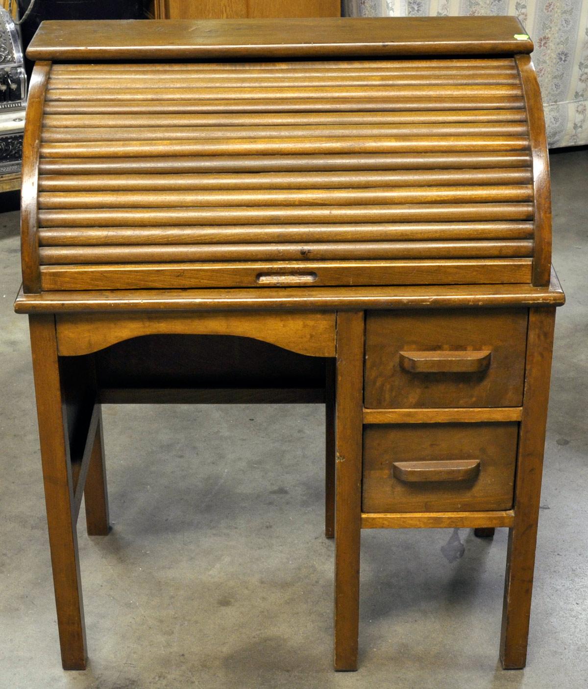 Antique Childs Roll Top Desk Antique Furniture
