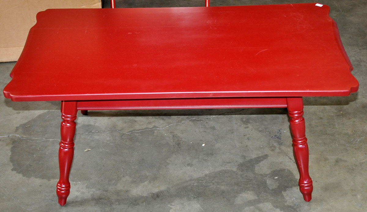 Red painted coffee table image collections coffee table design ideas auction catalog 41a pb red painted coffee table geotapseo image collections geotapseo Images