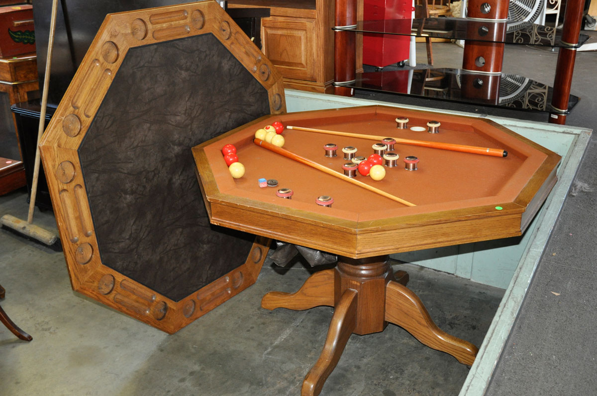 how to play bumper pool on an octagon table
